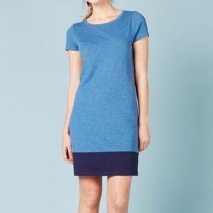 Boden Blue Colorblock Stub T Shirt Dress